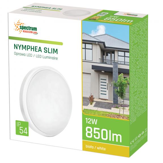 LED Wand- und Deckenleuchte Slim Rund 12 Watt IP54 Neutralweiss-3.600 - 4.800 K neutralweiß