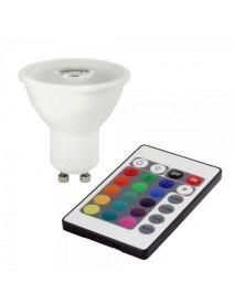 Bioledex GU10 Leuchtmittel 3 Watt RGB und Warmweiß mit Fernbedienung