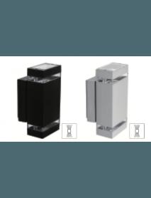 Moderne Wandleuchte Schwarz 2 x GU10 Fassung