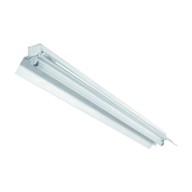 Fassung für LED Röhren aus Metall mit Reflektor