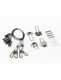 Bioledex Seilsystem für LED Panel - Decken Einbau / Abhängkit