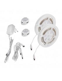 LED-Stripe Set Bettbeleuchtung mit Bewegungssensor 6,5W 2x 240lm warmweiß