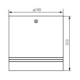 Premium Aufbaudownlight 25 Watt neutralweiß