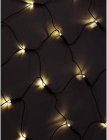LED-Lichternetz mit 80 LEDs Maße 80x100cm 230V in Warmweiß