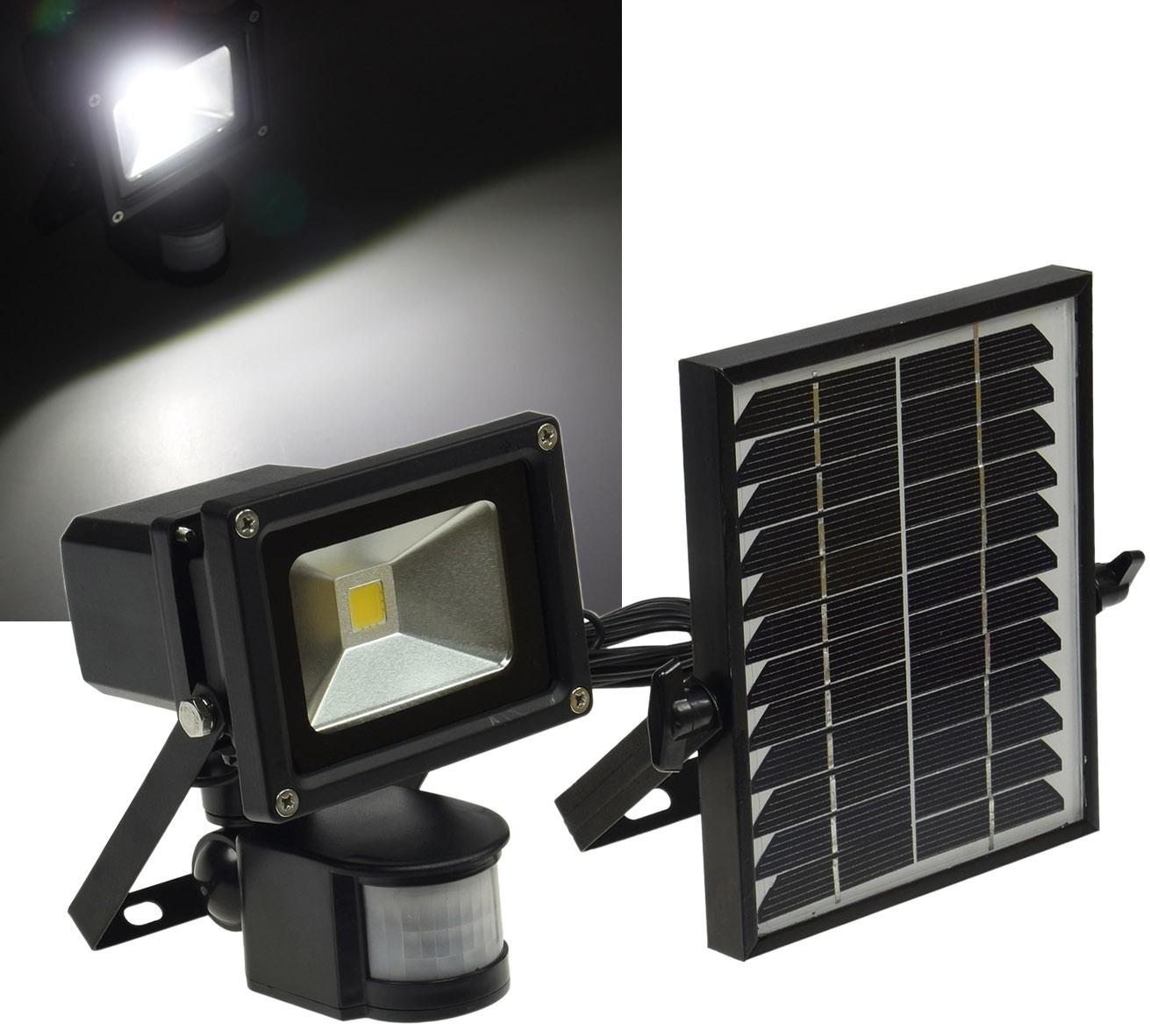 solar led fluter mit bewegungsmelder 10w led homeshop. Black Bedroom Furniture Sets. Home Design Ideas