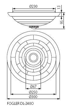 Deckenaufbauleuchte Fogler 2 x E27 Sockel
