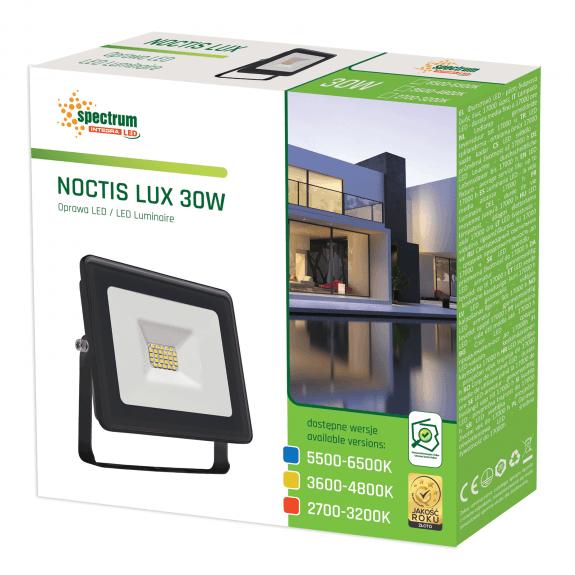 LED Fluter / Scheinwerfer NOCTIS Lux in Schwarz 30 Watt warmweiß