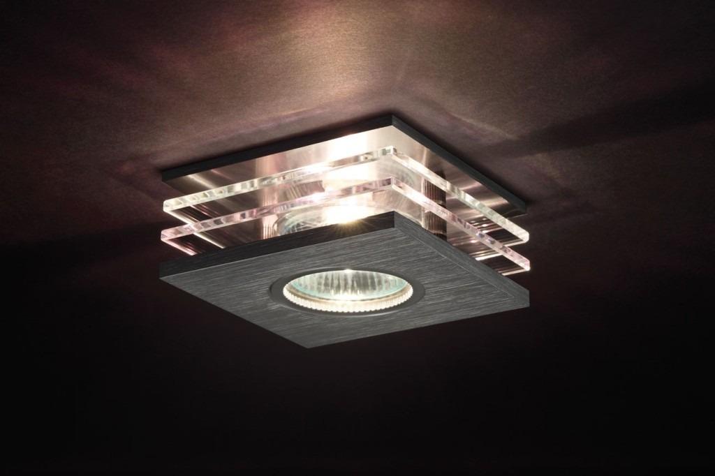 Moderne Deckenleuchte ROVAN mit Glasreflektoren