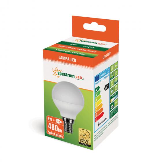 Kleine E14 LED Lampe 6 Watt 500 Lumen warmweiß