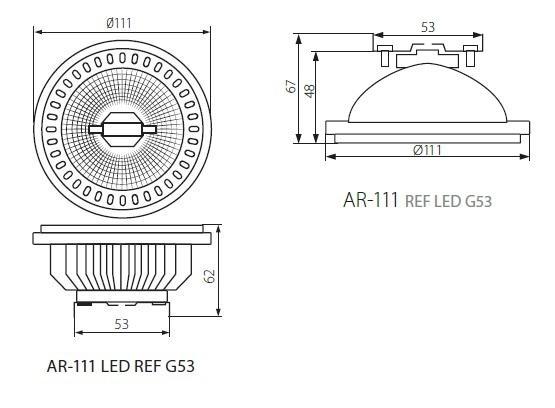 AR111 LED Lampe COB Chip 12 Watt 580 Lumen