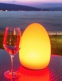 LED Schwimmleuchte EGG 16x21cm
