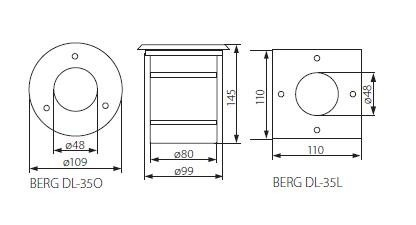 Bodeneinbaustrahler BERG IP67 stark belastbar