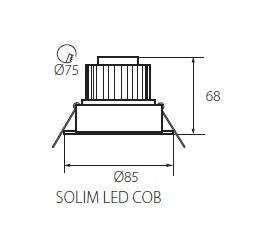 Hochwertige LED Einbauleuchte Kanlux 5 Watt Warmweiß