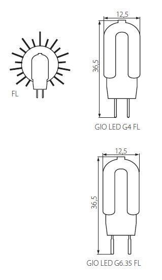 GIO LED G6.35 Stiftsockellampe 1,3 Watt
