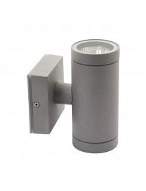 Edle zylinderförmige LED-Wandleuchte für den Außenbereich 2x GU10 Fassung
