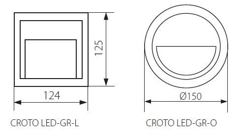 LED Wandaufbaustrahler Akzentbeleuchtung 1,3 Watt