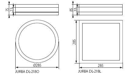 Deckenaufbauleuchte mit 2 x E27 Sockel IP44