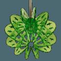 LED Solar Gartenleuchte 2er Pack Blütenmuster