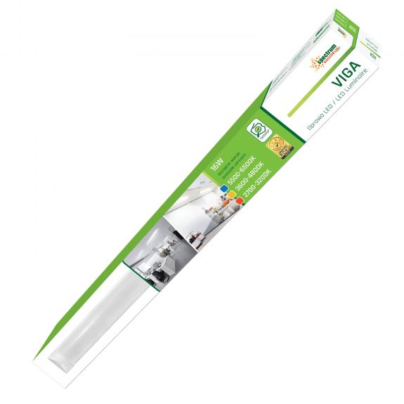 60 cm Deckenaufbau- Unterbau- Abhänglampe VIGA 16 Watt warmweiß