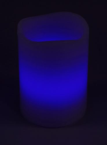 LED Echtwachskerze mit RGB Funktion und Funk Fernbedienung normale Ansicht