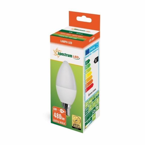 LED Lampe Kerzenform E14 6 Watt warmweiß