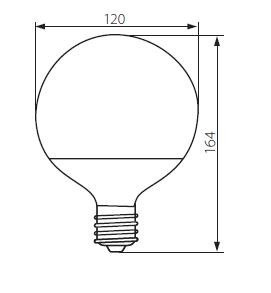 LUNI LED Globe Birne 14 Watt warmweiß