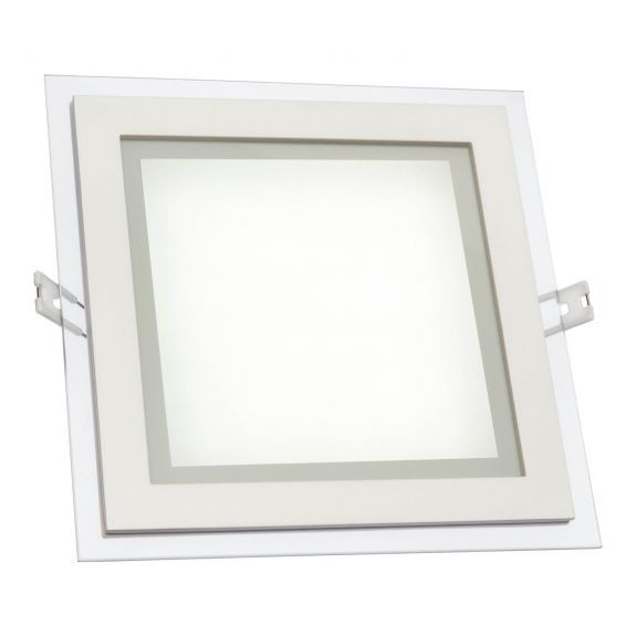 Quadratisches LED Panel 12 Watt Glasrand