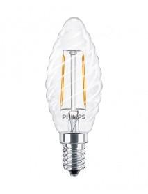 Philips LED Filament Kerzenform 2 Watt gedreht