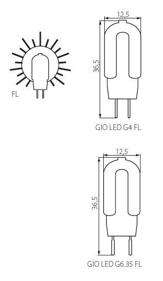 G4 LED Stiftsockellampe 1,3 Watt 100 Lumen Kanlux GIO