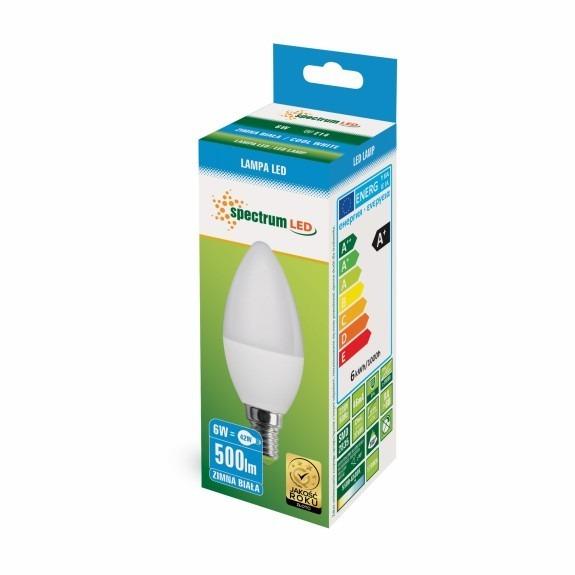 LED Lampe Kerzenform E14 6 Watt kaltweiß