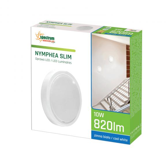 LED Wand- und Deckenleuchte Slim Rund 10 Watt Lichtfarbe wählbar-5.500 - 6.500 K kaltweiß