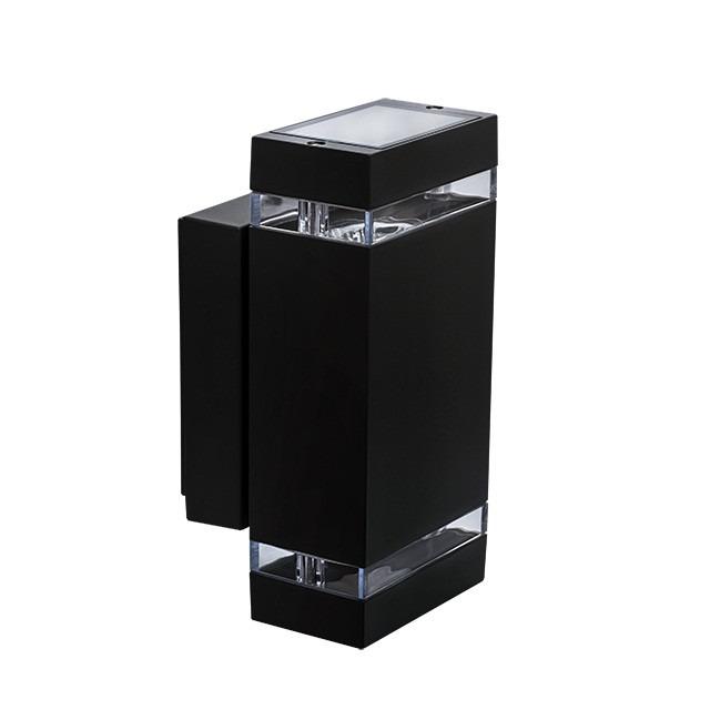 Moderne Wandleuchte 2 x GU10 Fassung Massiv und Hochwertig schwarz