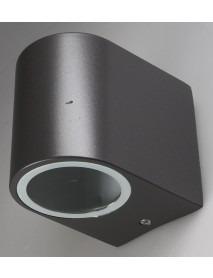 LED-Wandleuchte CTW-1-V2 IP44 anthrazit farbiges Aluminium-Gehäuse