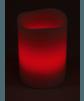 LED Echtwachskerze mit RGB Funktion und Funk Fernbedienung Rot