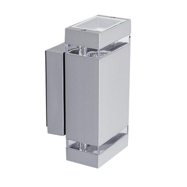 Moderne Wandleuchte 2 x GU10 Fassung Massiv und Hochwertig grau
