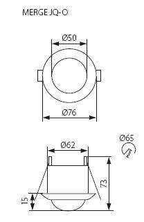 MERGE Bewegungsmelder Deckeneinbau 5 Meter