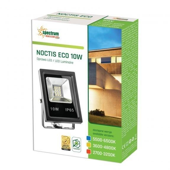 LED Fluter / Scheinwerfer NOCTIS Eco in Schwarz 10 Watt Lichtfarbe wählbar-5.500 - 6.500 K kaltweiß