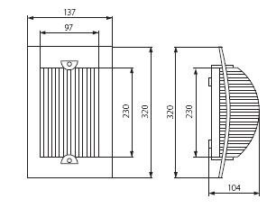 Wandleuchte TURK E27 Sockel IP54