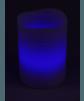 LED Echtwachskerze mit RGB Funktion und Funk Fernbedienung Blau