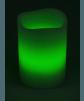 LED Echtwachskerze mit RGB Funktion und Funk Fernbedienung Grün