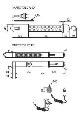 Kanlux Varito Toe LED Leuchte mit Akku