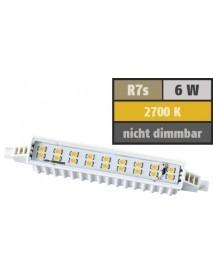 LED Strahler R7s 6 Watt 480 Lumen 118 mm 110° warmweiß