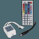 RGB-Controller für LED-Stripes inkl. Funk-Fernbedienung mit 44 Knöpfen