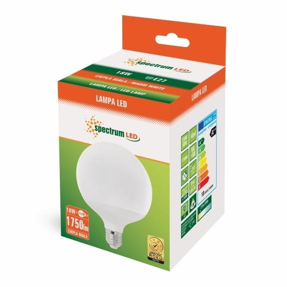 LED Globe Birne E27 18 Watt 1800 Lumen warmweiß