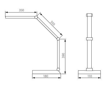 LED Schreibtischlampe OMBRO LED 8 Watt warmweiß
