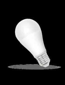 Helle LED Birne E27 mit 15 Watt und hellen 1500 Lumen in Warmweiß