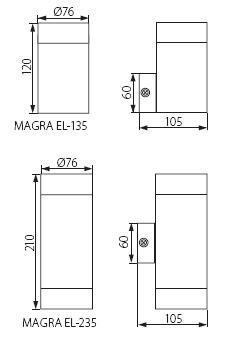 Premium Wandleuchte MAGRA 2 x GU10 Fassung IP44