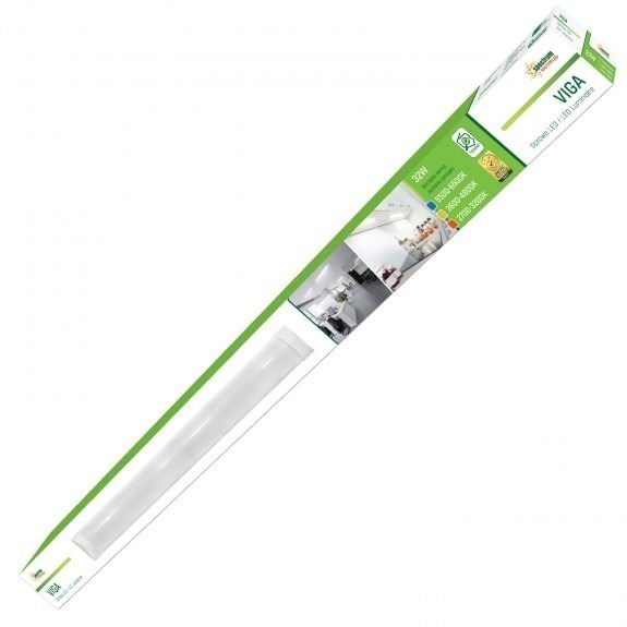 Deckenaufbaulampe, Unterbaulampe, Abhänglampe VIGA 32 Watt kaltweiß