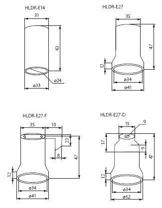 E14 Keramikfassung