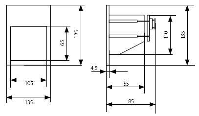 LED Wandeinbaustrahler LICA 1,5 Watt IP65